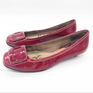 Red Sam Edelman Kitten Heels Patent Leather 8.5